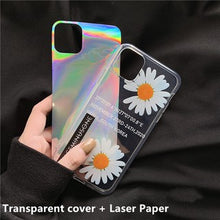 Load image into Gallery viewer, Creative Korean Fashion Laser Daisy Flower Soft Casing
