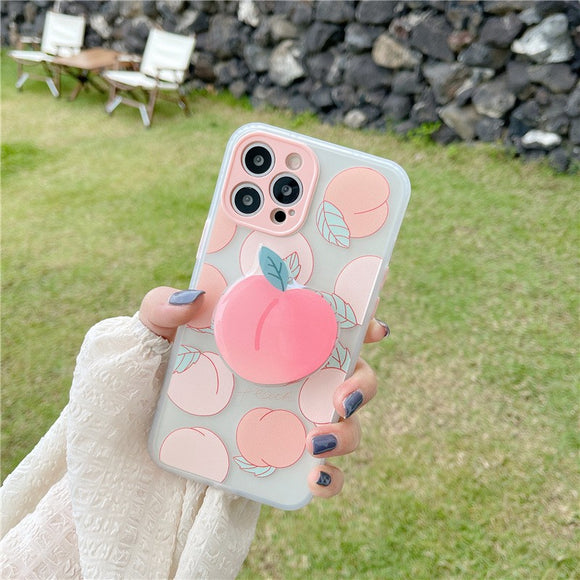 Sweet Cute Peach Stand Iphone Case