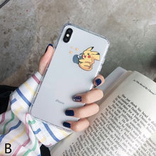 Load image into Gallery viewer, Cute Cartoon Pikachu Couple Soft Casing
