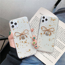 Load image into Gallery viewer, Korean Fashion Gold Foil Bowknot Soft Casing