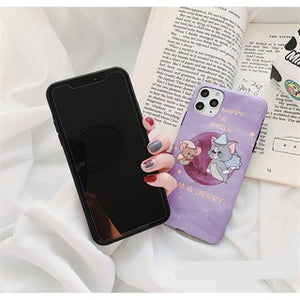 Cartoon Tom&Jerry Purple Soft Casing