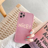 Korean Pretty Fashion Pink Nice Wording Casing