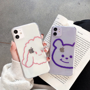 Korean Transparent Cute Cartoon Soft Casing
