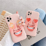 Creative Funny Face Iphone Case
