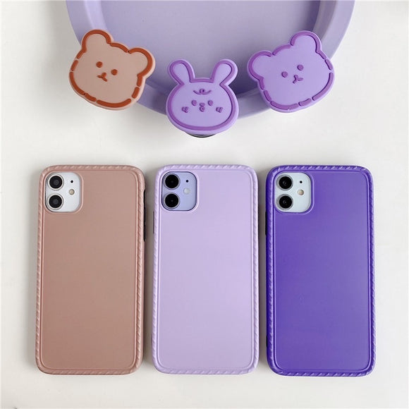 Korean Fashion Pure Color with Bear Stand