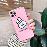 Simple Pure Color Rabbit Carrot Iphone Case
