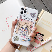 Load image into Gallery viewer, Cute Comic girl phone case with Stand