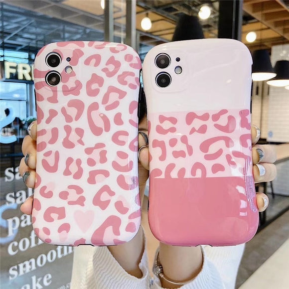 Nice Pink Leopard Print Iphone Case