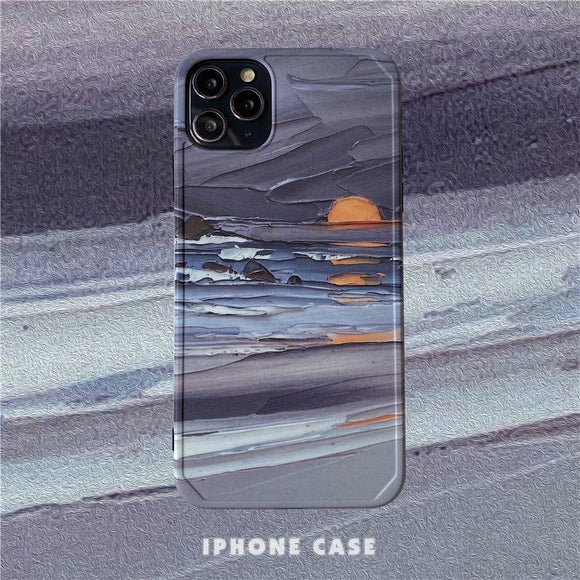 Oil Painting Sunset iPhone case