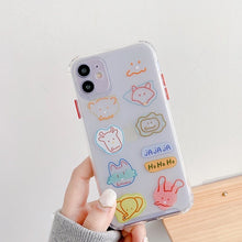 Load image into Gallery viewer, Simple Cute Colored Graffiti Animals Iphone Case