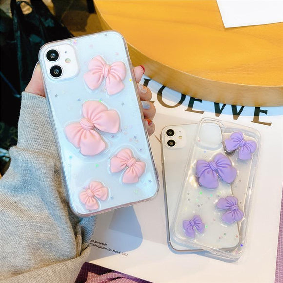 3D Cute Bow iPhone Case