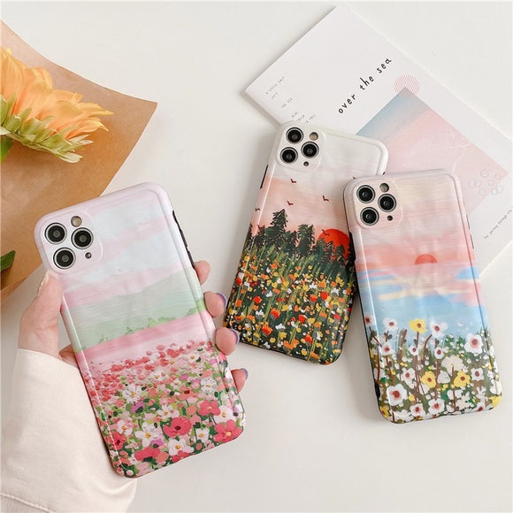 Oil Painting Flower Iphone Case
