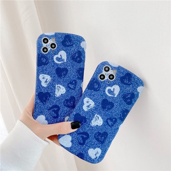 Cowboy Blue Love Heart Iphone Case