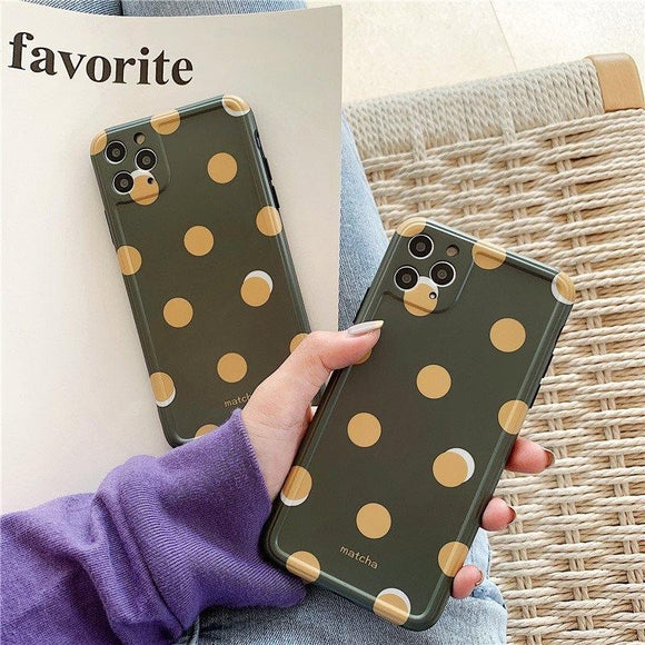 Yellow Dot iPhone case