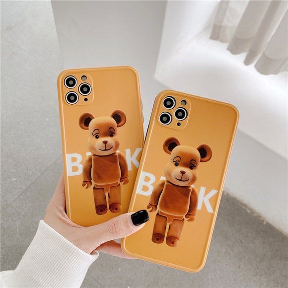 Korean Fashion Brown Bear Iphone Case