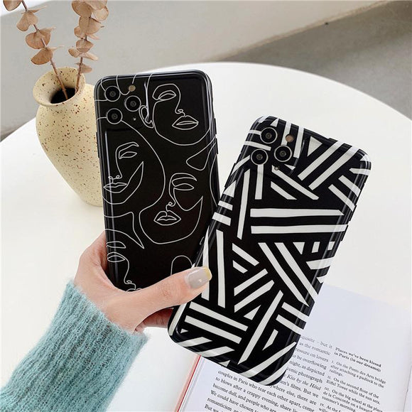 Creative Face Art Black Phone case