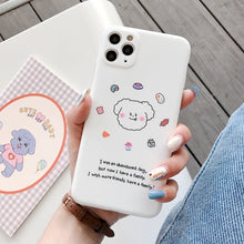 Load image into Gallery viewer, Korean Simple Cute White Dog Soft Casing