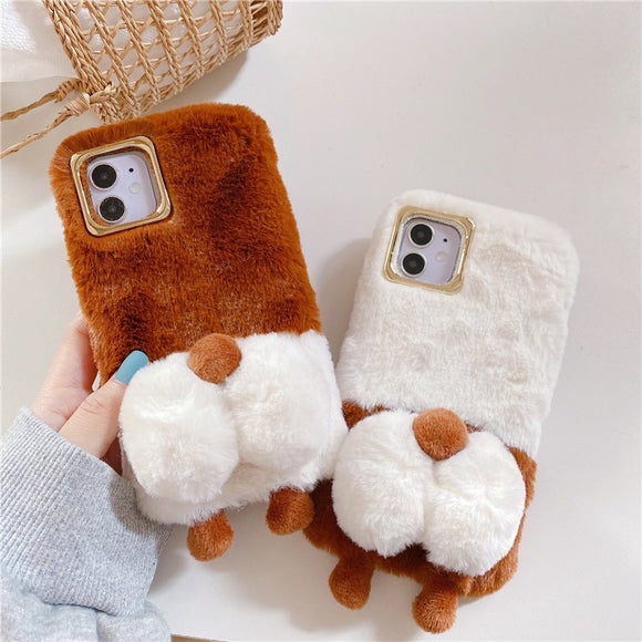 New Fashion Cute Plush Corgi Iphone Case