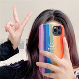 Fashion Cute Silk Rainbow Casing
