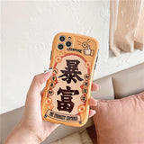 Be RICH Be LUCK Series iPhone Case