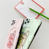 Rabbit with Fruit Drink Iphone Case