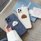 New Arrival Fashion Cute Embroidery Dog Iphone Case