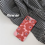 Fashion Red Flower Soft Casing