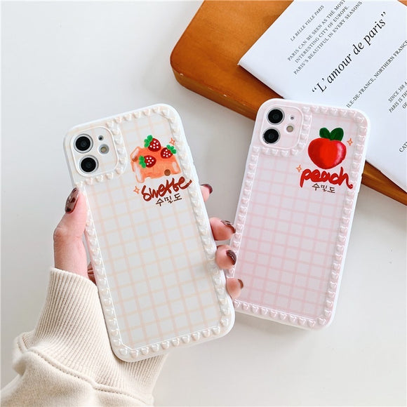 Simple Cute Lattice Fruit Iphone Case