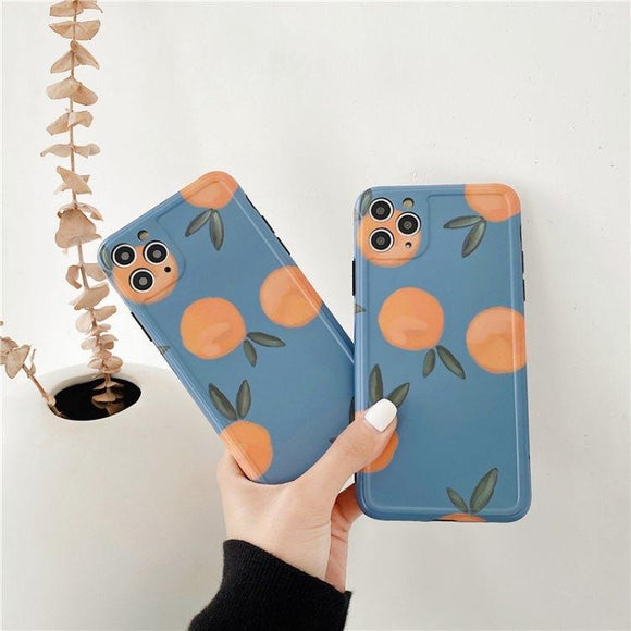 Orange Fruit Peach iPhone Case