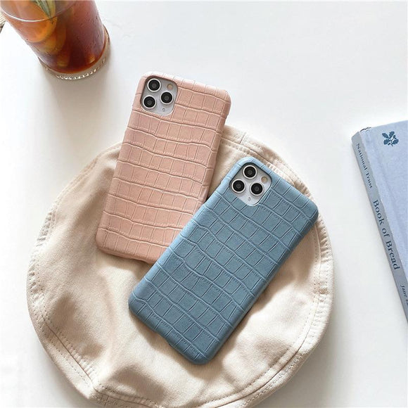 Blue Pink Brick iPhone Case