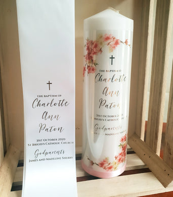 baptism candle Christening Baptism Box /& Comb. including Candle Naming day  GIFT PACK..