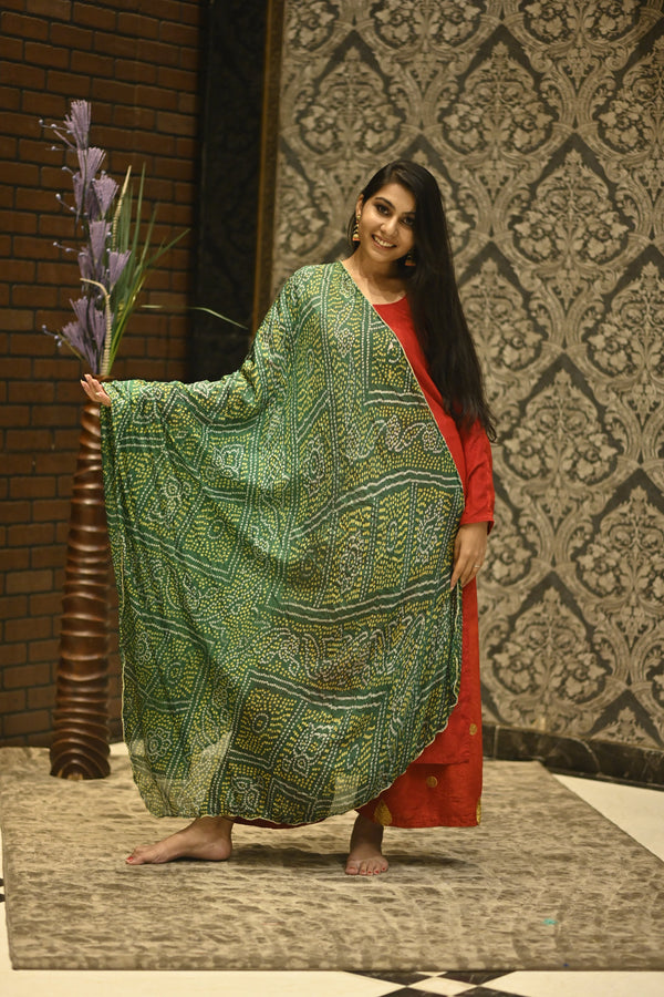 Women's Rajasthani Printed Cotton Dupatta