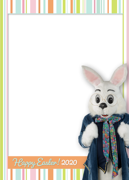 2020 Easter Bunny Digital Border