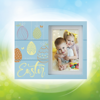 Happy Easter Wooden Picture Frame