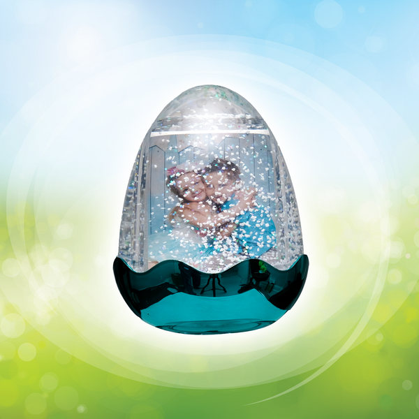 Easter Egg Photo Snow Globe