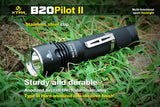 XTAR B20 Pilot II XM-L2 1100 Lumens LED Sport Flashlight - XTAR Direct