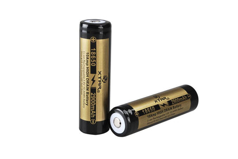 XTAR 18650 2900mAh IMR Battery (Unprotected) - XTAR Direct