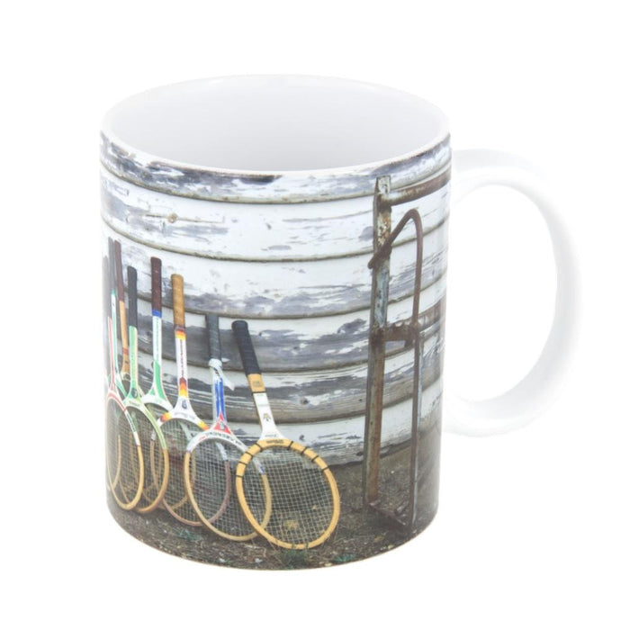 Coffee Mug - Vintage Wooden Racquets