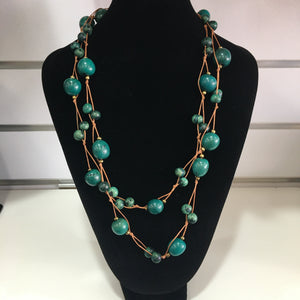 Tagua Jewellery - Green Necklace