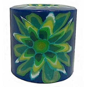 Swazi Candles - Green Flower