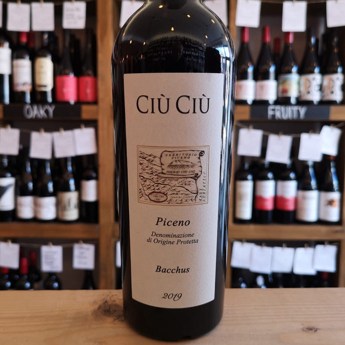 Bottle of Ciu Ciu 'Bacchus' Wine