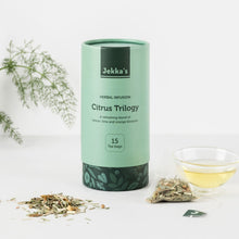 Load image into Gallery viewer, Citrus Trilogy Herbal Infusions by Jekka
