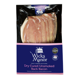 Dry Cured Unsmoked Backon by Wicks Manor