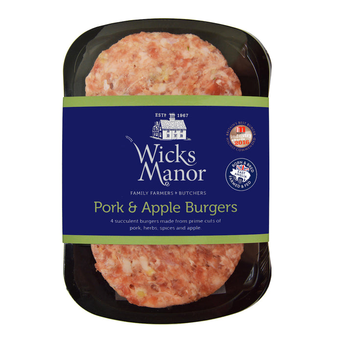 Pork and Apple Burgers by Wicks Manor