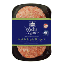 Load image into Gallery viewer, Pork and Apple Burgers by Wicks Manor