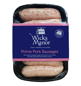 Traditional Pork Sausages by Wicks Manor