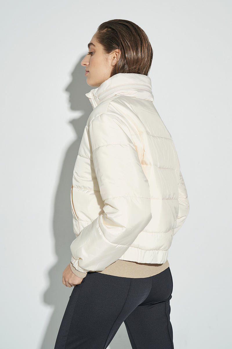 100% Recycled Cropped Puffer Jacket