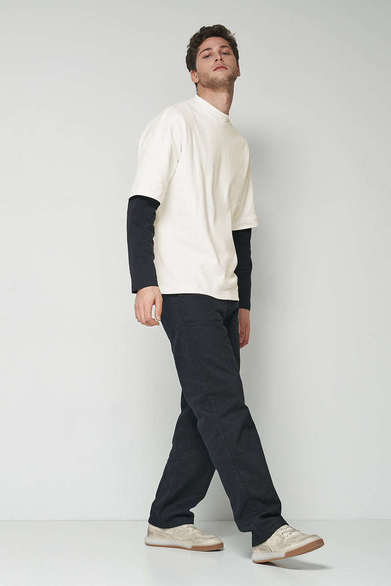 Relaxed Fit Tapered Pants