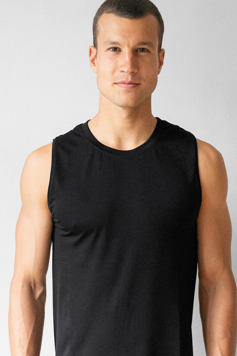 Seamless Mesh Panel Tank Top