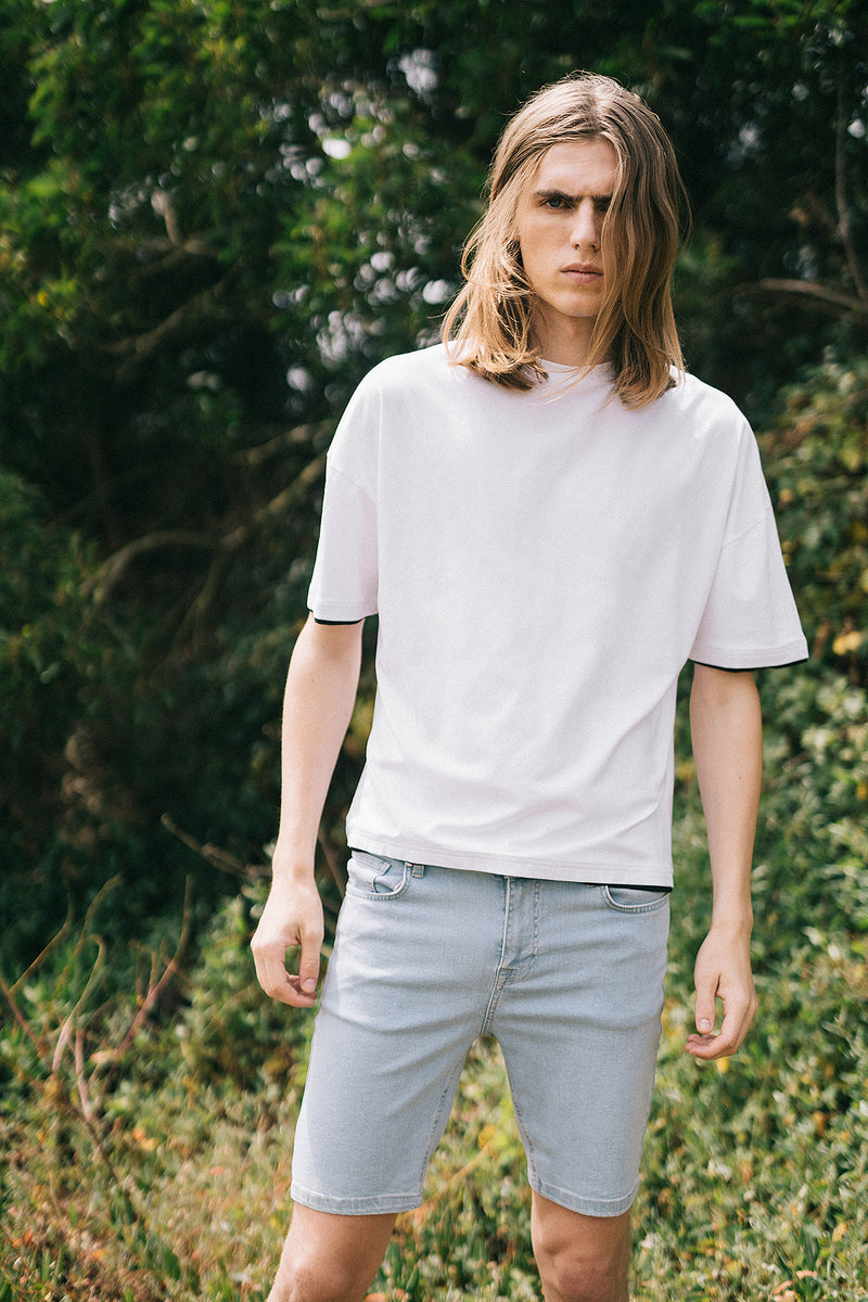 Layered Hem Oversized T-shirt